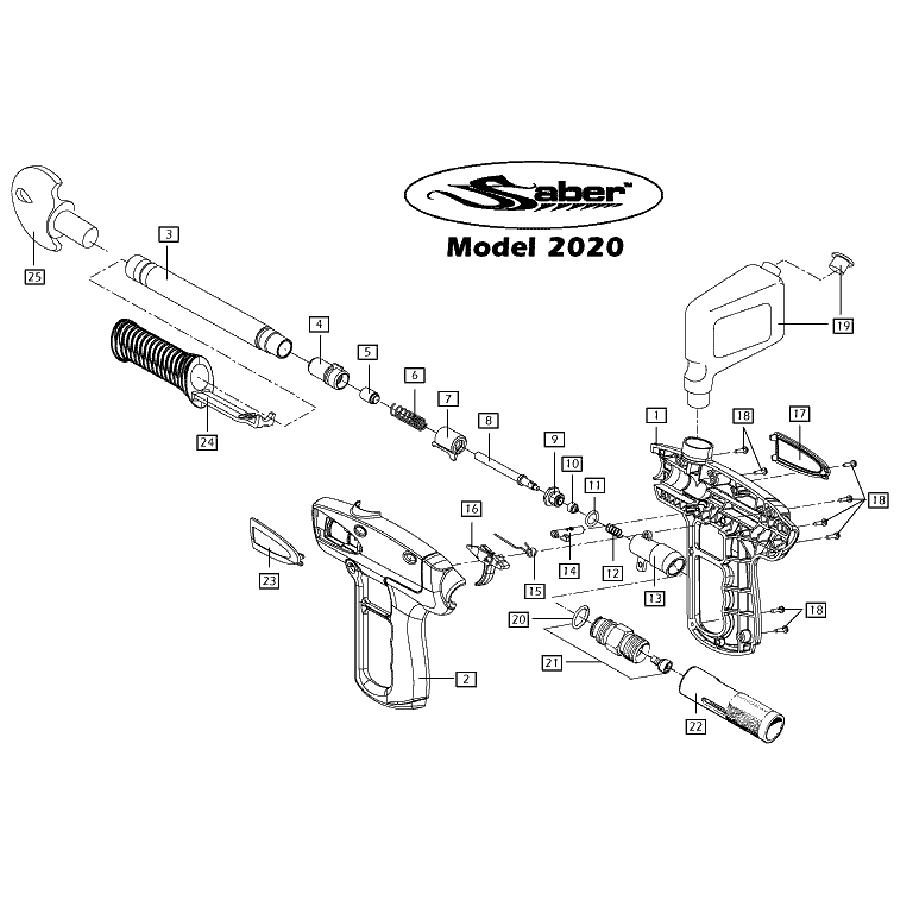brass eagle saber gun diagram