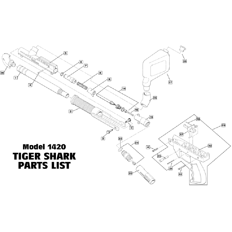 similiar tiger shark diagram keywords sku brass eagle tigershark gun diagram