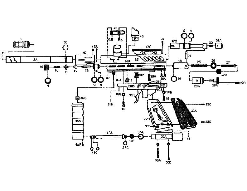 kingman spyder gun parts diagrams