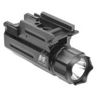 Pistol and Rifle LED 90 Lumen Flashlight with Quick Release Weaver Mount