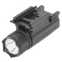 Pistol or Rifle LED Flashlight with Quick Release Weaver Mount