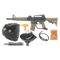 Tactical RTP Kit with Mask, Hopper, 90g CO2, and 50 Paintballs