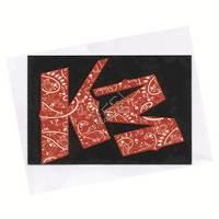 'KM' Paisley Sticker