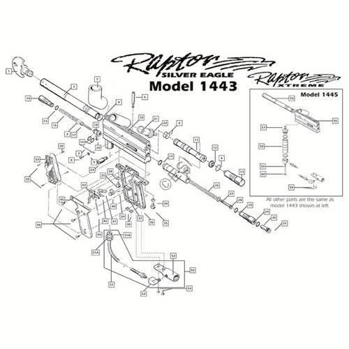 Brass Eagle Raptor Gun Diagram