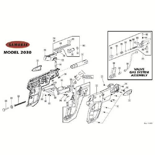 brass eagle samurai gun diagram rh jtpaintballparts com
