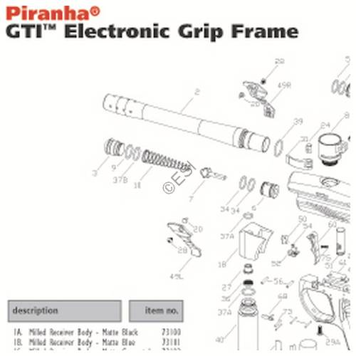 pmi piranha gti electronic grip frame diagram